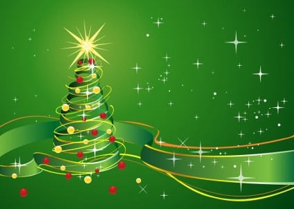 christmas_background_with_star_and_green_ribbon_266932